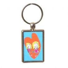 Double-Sided Child's Artwork Keyring In Colour - Unique Father's, Mother's Day Gift or Grandparents Gift